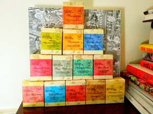 Pyramid of soaps