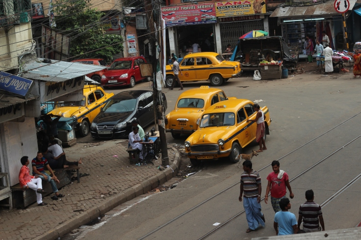 Busy streets and yellow taxies